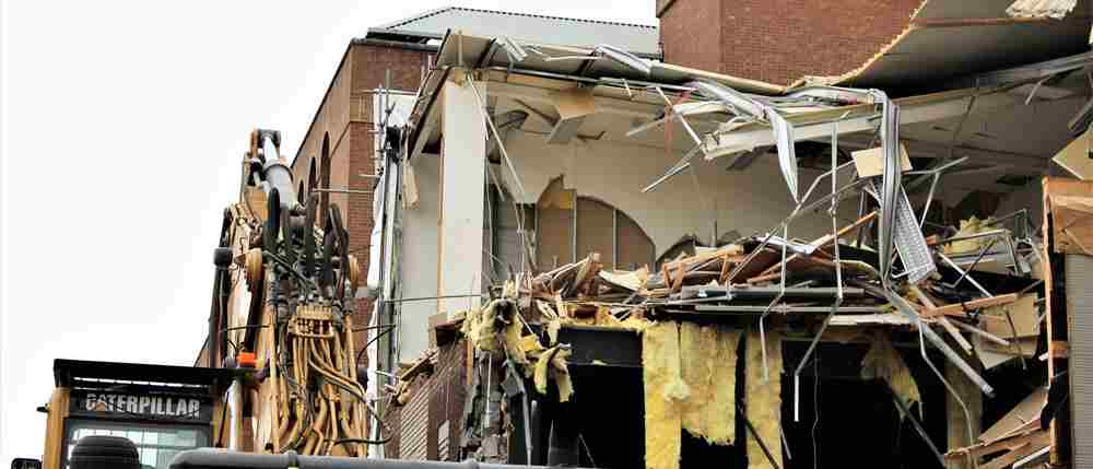 Demolition begins as part of multi-million pound redvelopment