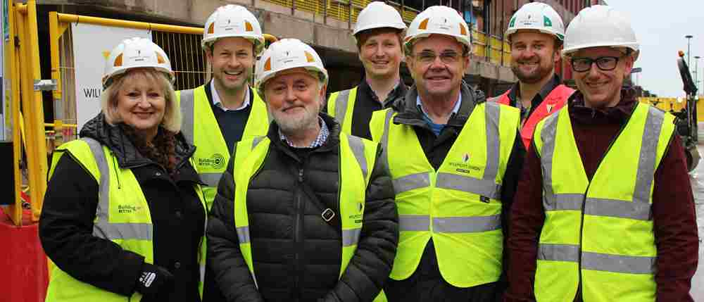 Founding members visit Octagon Theatre construction site